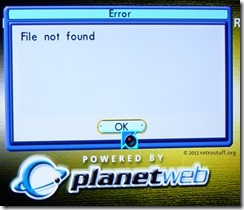 Planet Web v3.0 Error File not found
