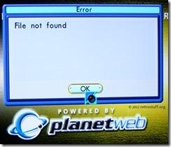 Planet Web v3.0 Error File not found