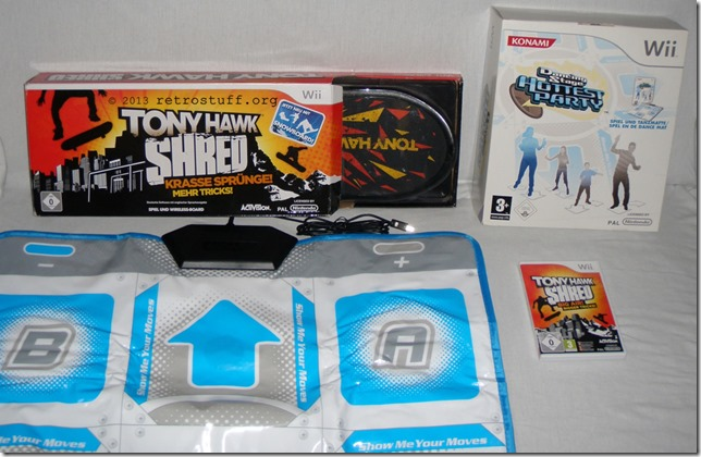 Tony Hawk Shred and Konami Dance Mat for Wii