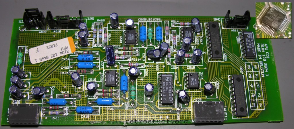 CDI220/00 APU PCB (DAC SAA7321GP on the back side)