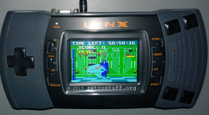 Atari Lynx II New LCD Screen, 5V Mod and Connection to Framemeister