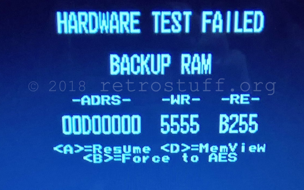 BACKUP RAM ERROR - UniBIOS bypass