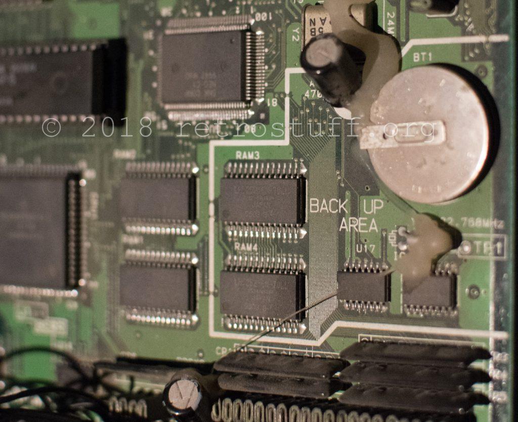 Backup RAM area