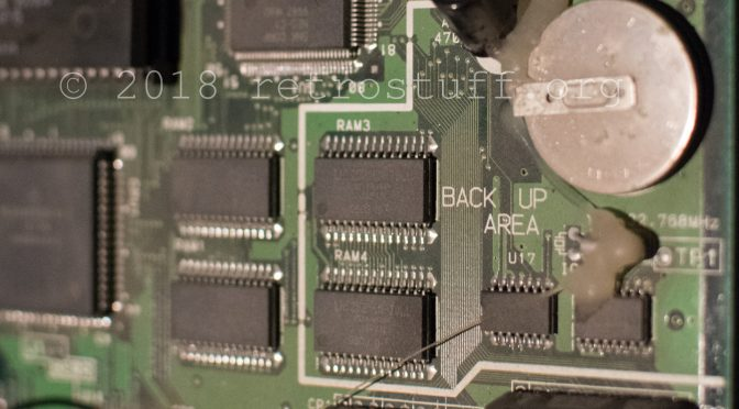 Neo Geo MV1FZS Battery and Backup RAM Error Fix