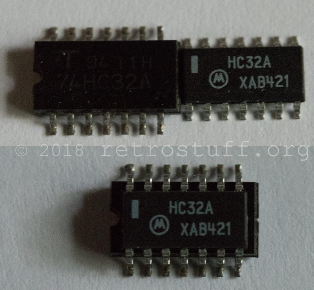 74HC32 SOP14 vs SOIC-14