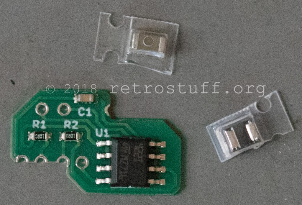 SD2SNES Rev. F-H upgrade components