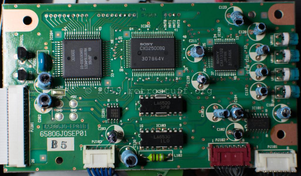 Amiga CD³² drive controller PCB