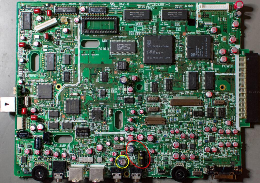 Philips CDI350 PCB (new capacitors)