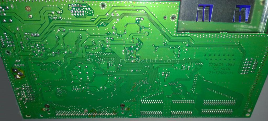 Sega Pico - main PCB back