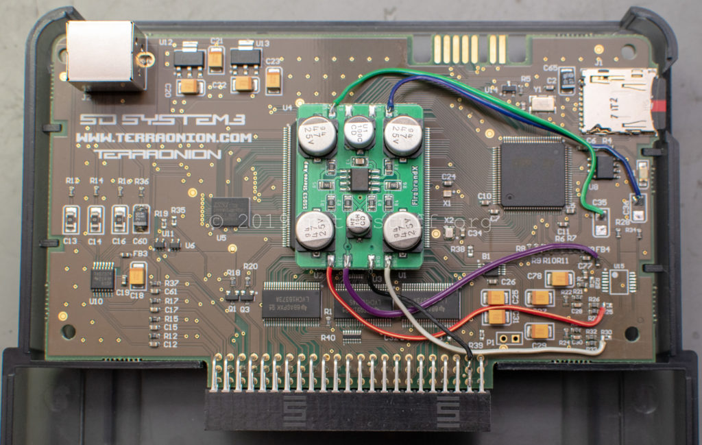 FBX stereo bypass amp mod board