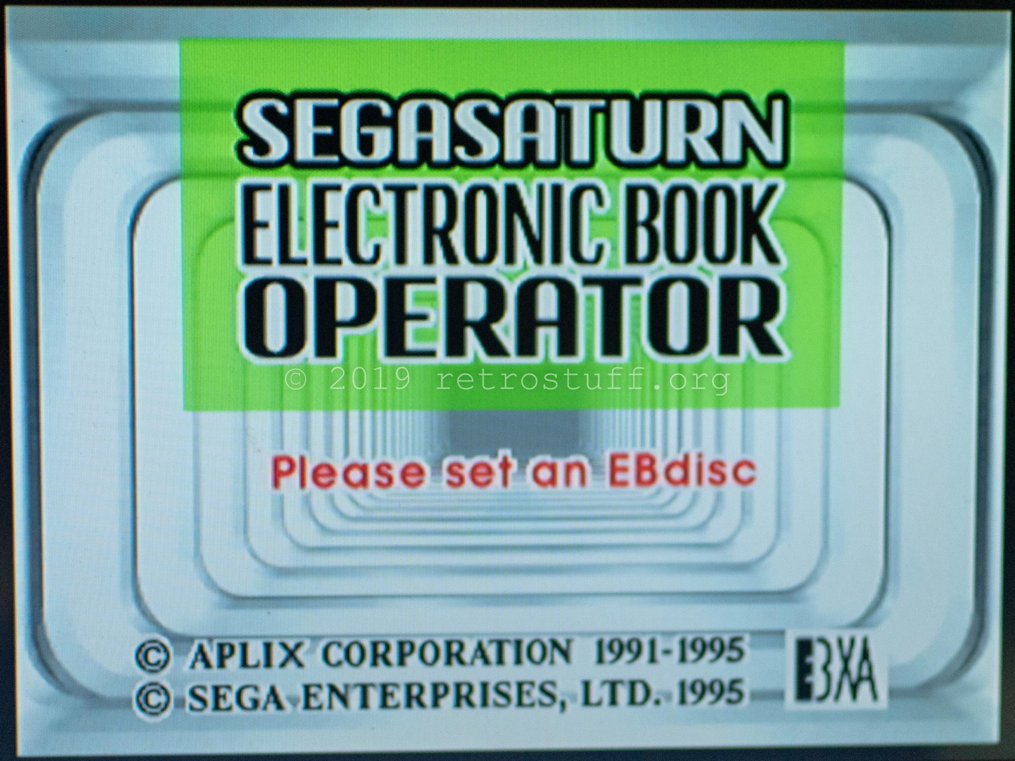 Sega Saturn Electronic Book Operator - retrostuff