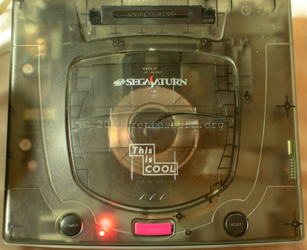 SegaSaturn playing an EBG disc