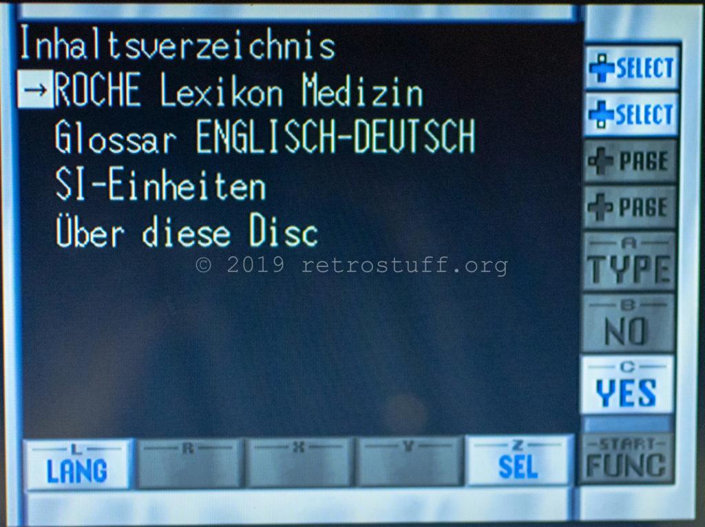 EBG start menu (ROCHE Lexikon Medizin)