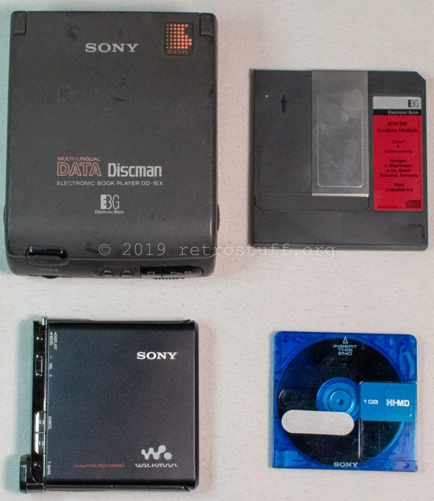 Sony DD-1EX Data Discman and Sony MZ-RH1 Hi-MD Walkman