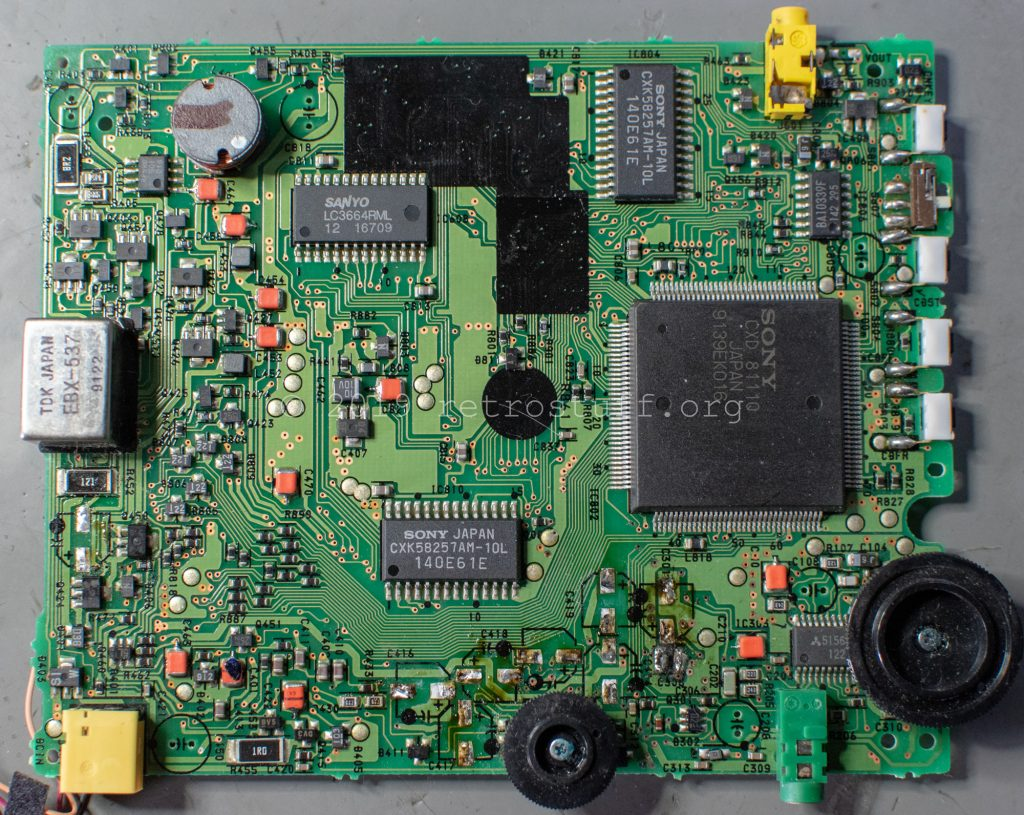 Sony DD-1EX mainboard (capacitors removed)