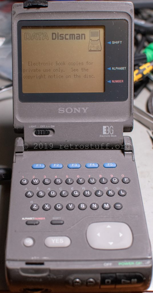 Sony DD-1EX - first sign of life