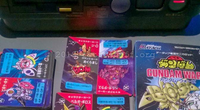 Bandai Datach SD Gundam: Gundam Wars Barcodes for MAME