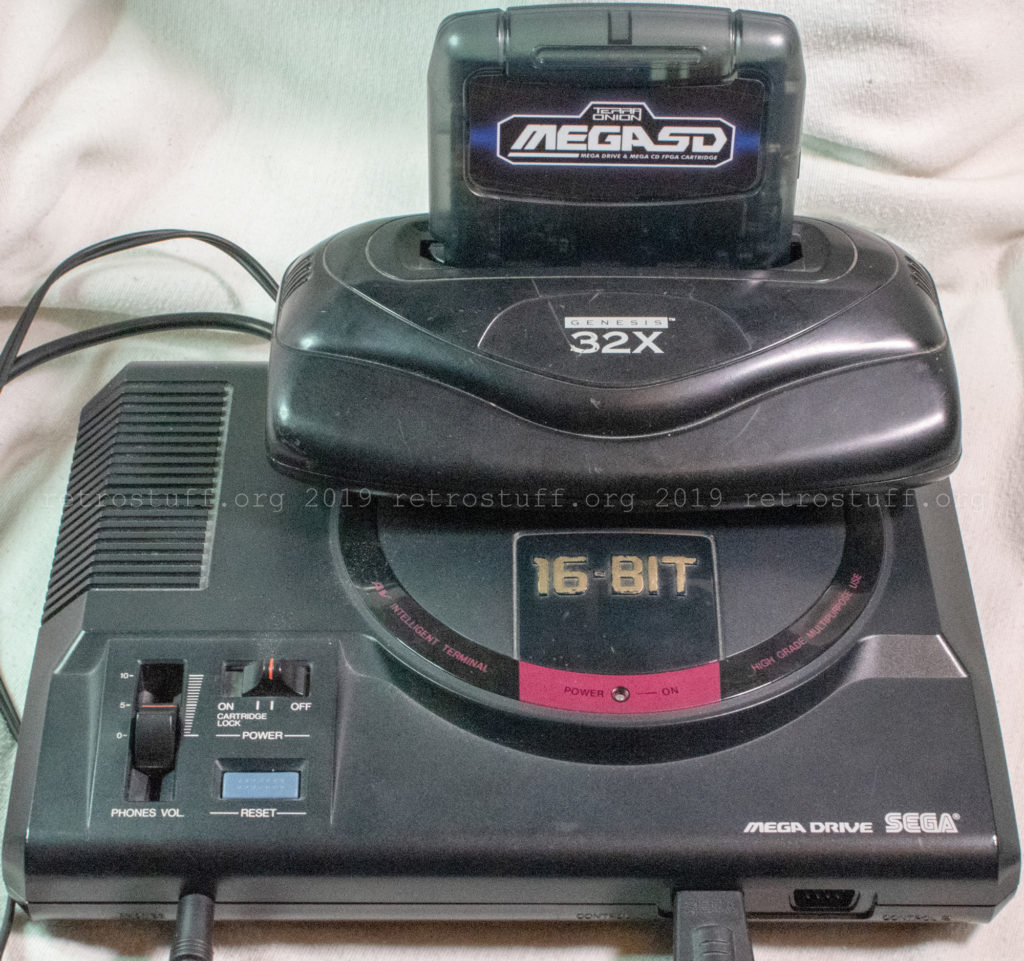 MegaSD with Mega Drive HAA-2510 and Genesis 32X MK-84000