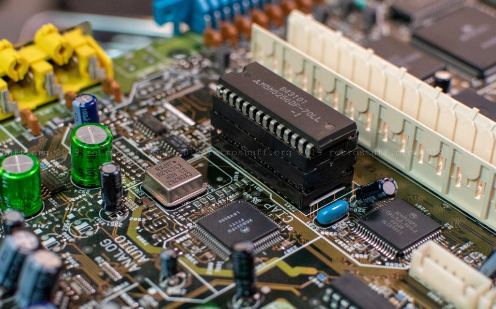 IC socket + RAM socket + SRAM chip
