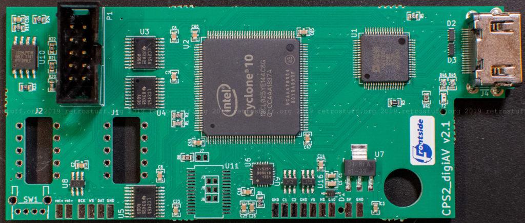 Capcom CPS2 digital AV interface