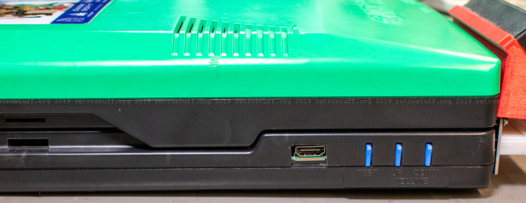 CPS2 digital AV interface: cut-out for HDMI connector