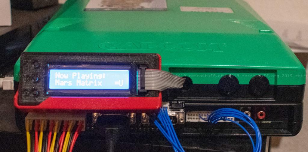 Capcom CPS2 digital AV and I/O interfaces installed