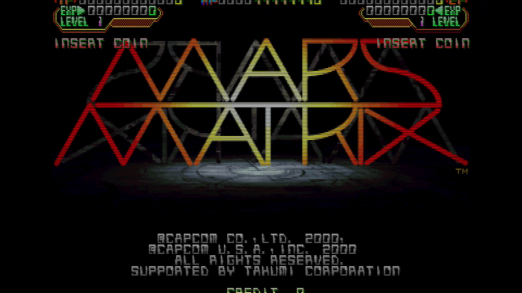CPS2 digital AV interface: Mars Matrix + scanlines