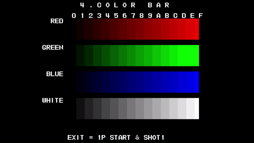 CPS2 digital AV interface: colour bars