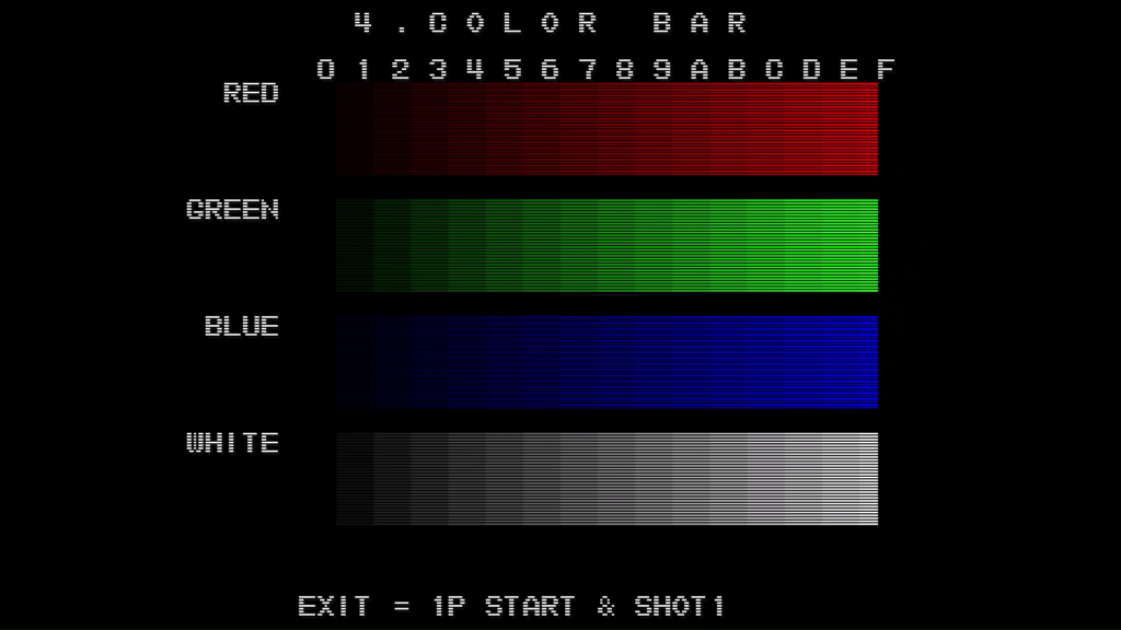 CPS2 digital AV interface: colour bars + scanlines