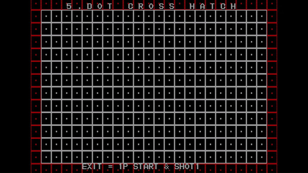 CPS2 digital AV interface: dot cross hatch + scanlines