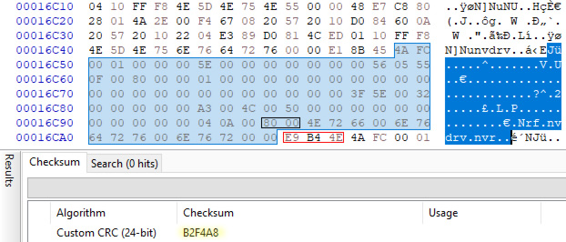 HxD - calculate CRC-24/OS-9