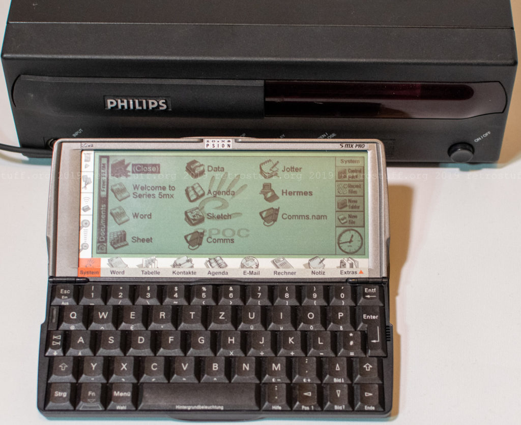 Psion Serie 5mx Pro and Philips CDI470