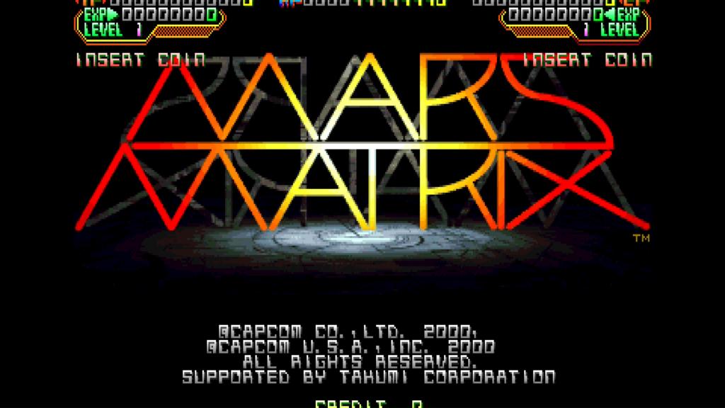 CPS2 digital AV interface: Mars Matrix (1080p 5x)