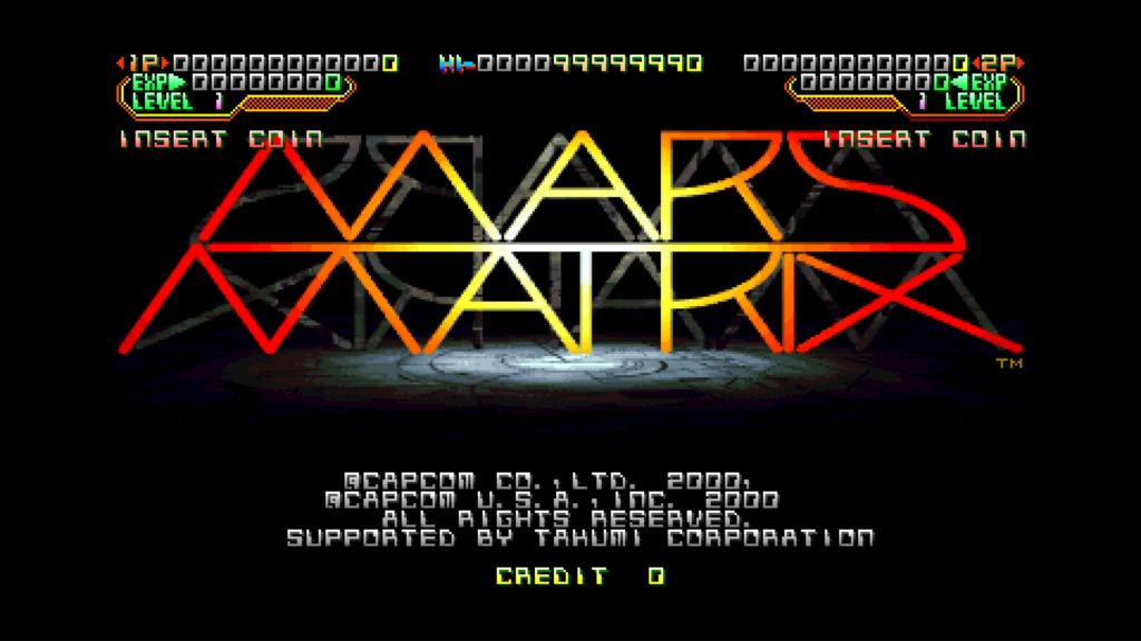 CPS2 digital AV interface: Mars Matrix (1080p 4x)