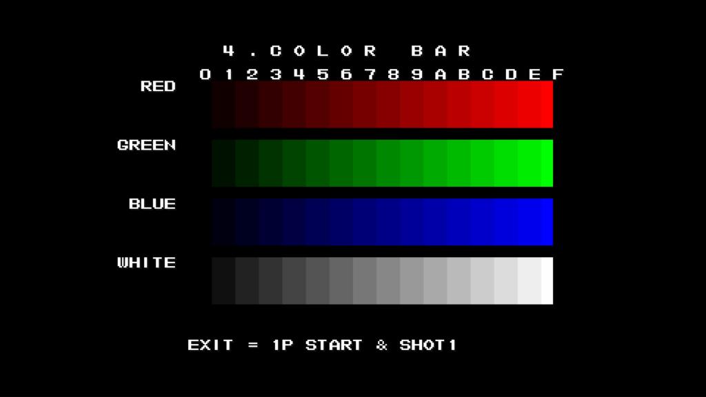 CPS2 digital AV interface: colour bars (1080p 4x)