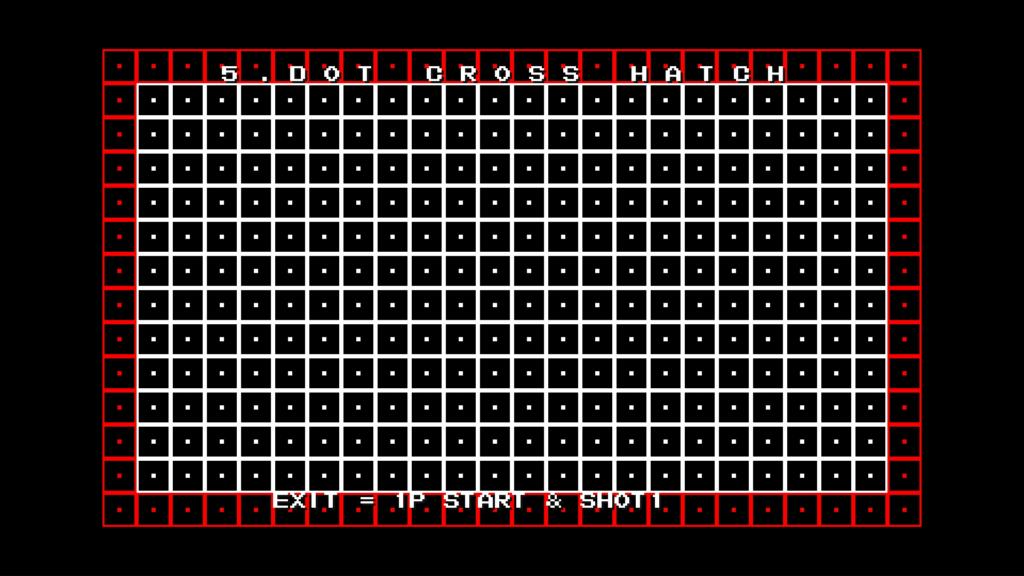 CPS2 digital AV interface: dot cross hatch (1080p 4x)