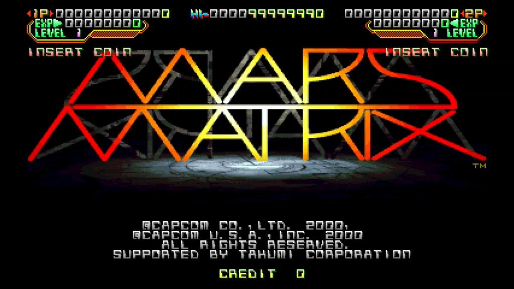 CPS2 digital AV interface: Mars Matrix (720p)