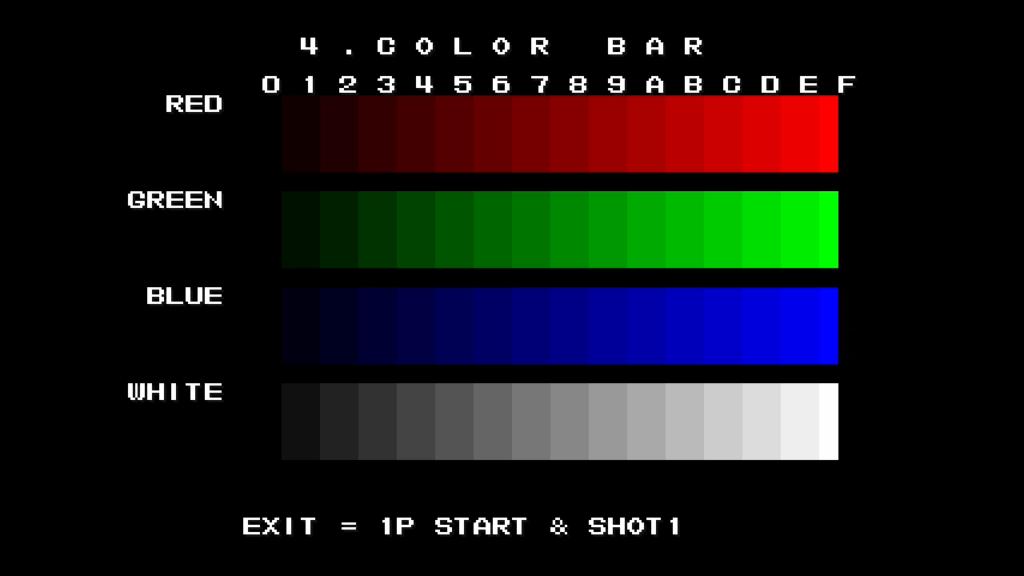 CPS2 digital AV interface: colour bars (720p)