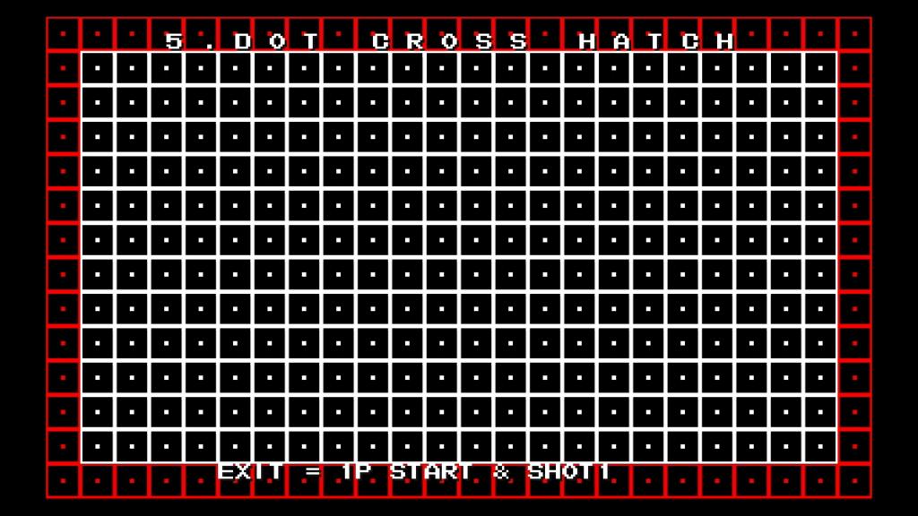 CPS2 digital AV interface: dot cross hatch (720p)