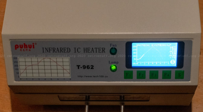 Puhui T-962 IR Reflow Oven Modifications