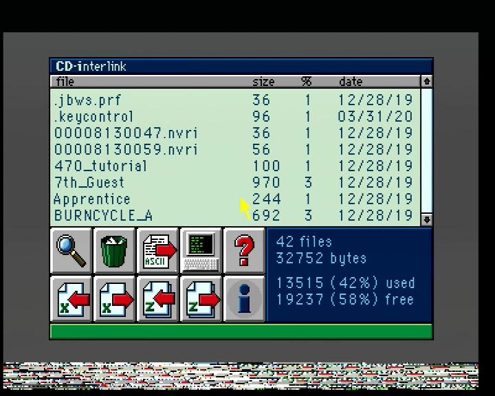 CD-interlink main window (50 Hz)