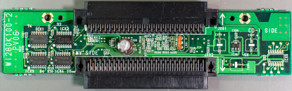 Philips 9142 extension module PCB - SMD capacitors removed