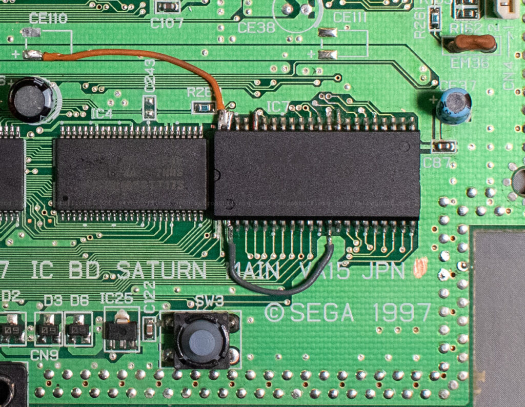Sega Saturn region-free BIOS (pin 2 to GND)