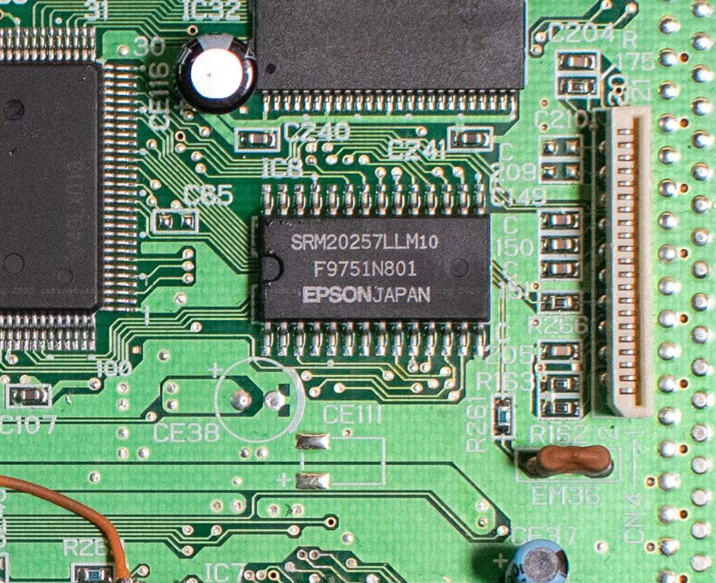 Sega Saturn SRAM chip (SRM20257LLM10)