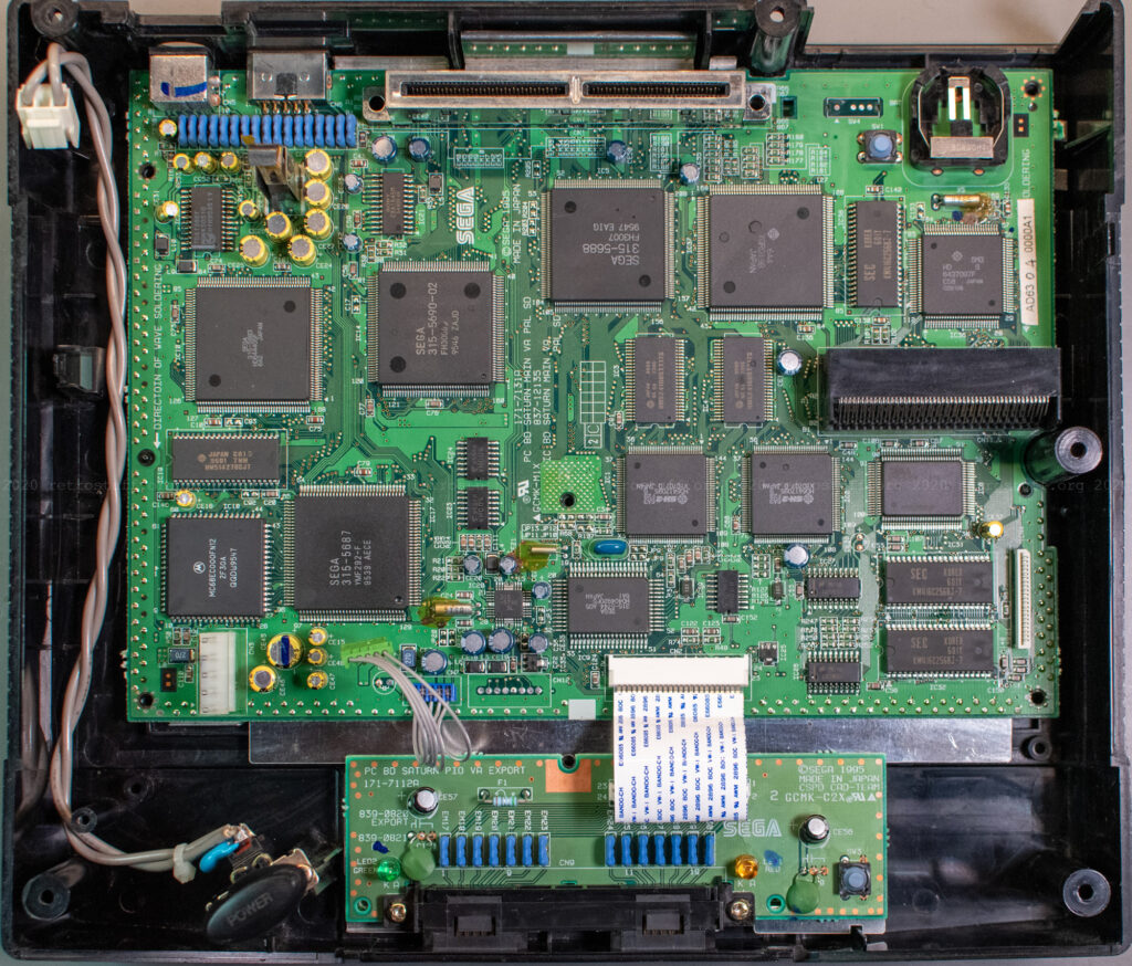 Sega Saturn PAL VA3 mainboard (front)