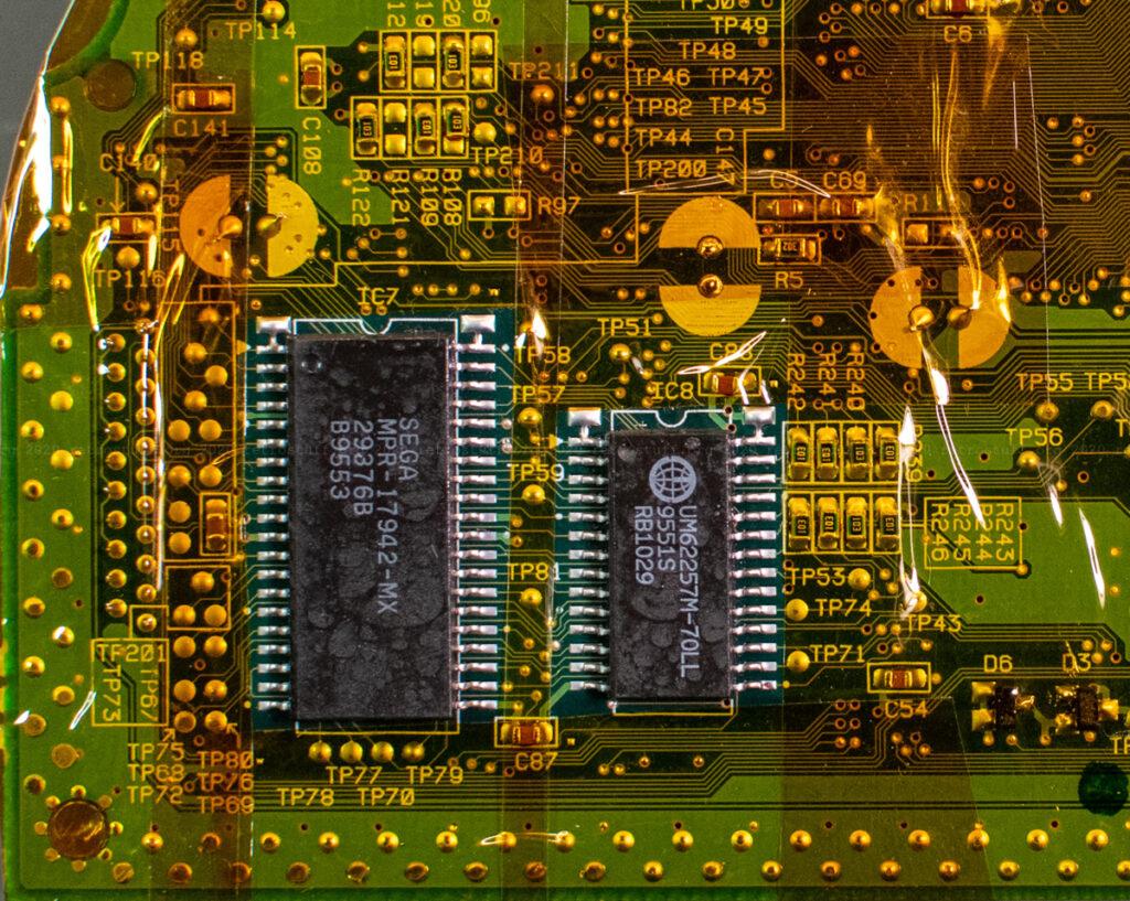 Sega Saturn BIOS and SRAM chips