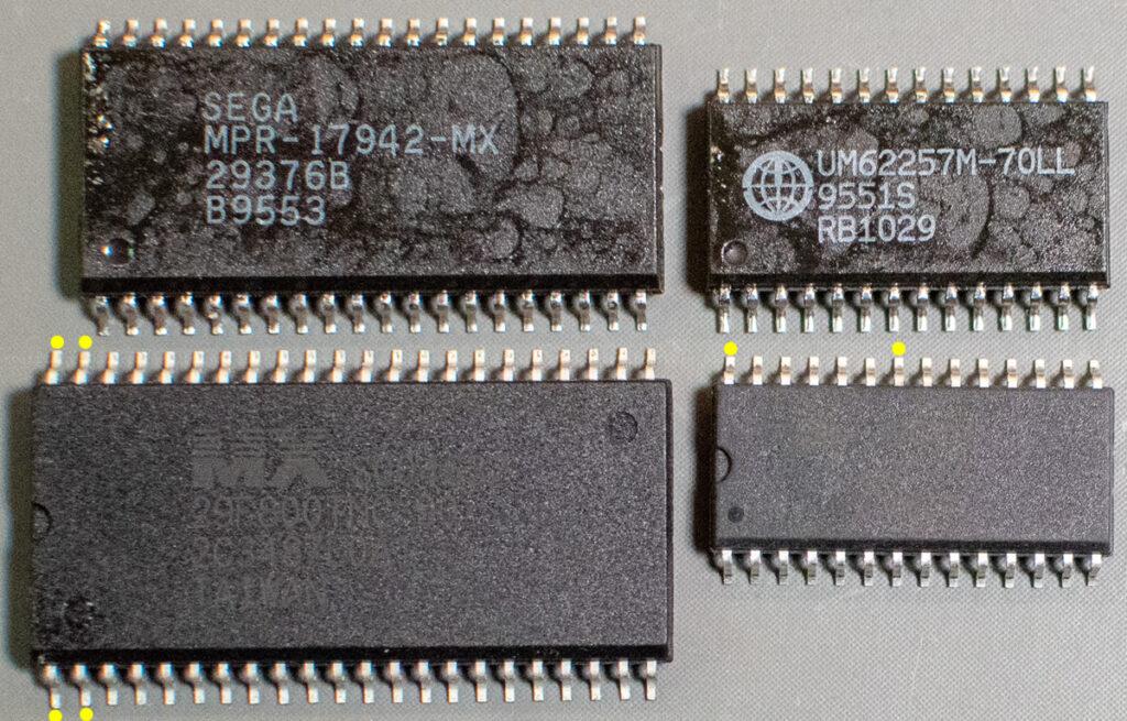 Chip size comparison