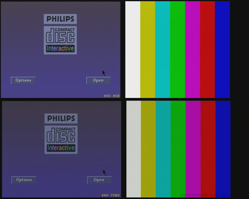 Philips CDI660 player shell and colour bars