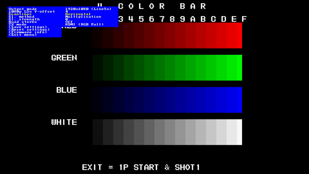 CPS2 digital AV interface scanlines - Horizontal Multiplication 0