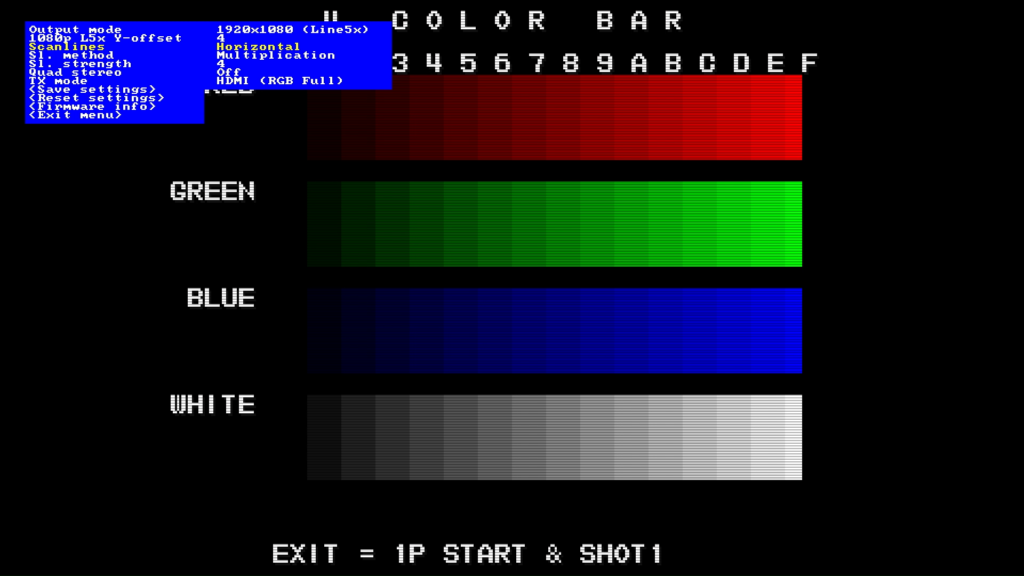 CPS2 digital AV interface scanlines - Horizontal Multiplication 4